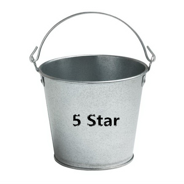 5 Quart Galvanized metal bucket