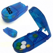 Pill Box With Pill Cutter