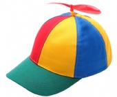 6 Panels Multi-Color Propeller Helicopter baseball cap