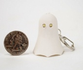 LED GHOST KEYCHAIN ,Light Sound  Key Chain Ring Halloween