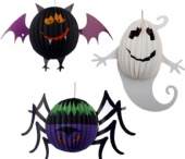 Halloween paper decorations Spider butterfly ghost