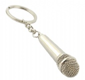 Microphone Shaped Key Chain