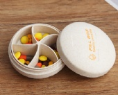 Wheat Straw Portable Pill Box