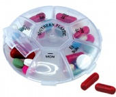7 day Round Medicine pill box