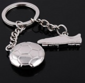Soccer Shaped Key Chain