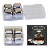 A Set of Stainless Steel Chill Cube(4 pcs in a set)