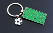 Soccer field shaped keychain