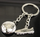 Soccer shaped keychain