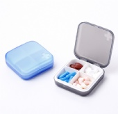 Square Travel Portable Pill Box