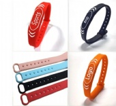 NFC adjustable silicone rfid wristband