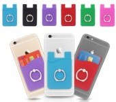 Silicone phone wallet with king ring