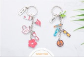 zinc metal key charms