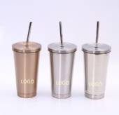 16 oz. Double Wall Cool/Hot Stainless Steel Tumbler
