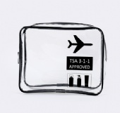 Transparent Zipper Cosmetic Bag